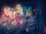 Girl with firework