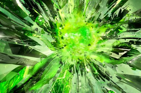 Nvidia 3d Vision Surround 3d And Cg Abstract Background