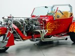 Flaming Red Motor Sled