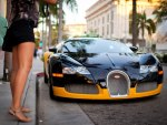 bugatti and girl