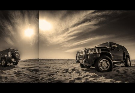 Hummer - cars, desert, model, car, hummer