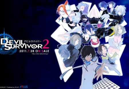 Shin Megami Tensei: Devil Survivor 2 - games, devil survivor 2, shin megami tensei, anime