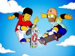 Homer With Tony Hawk