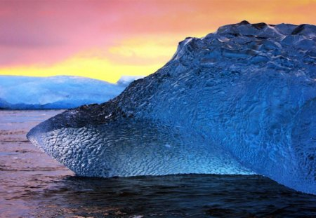 Blue Iceberg - iceberg, beautiful, blue, picture