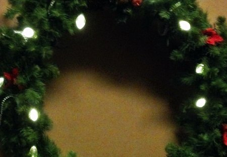 Holiday Wreath - wreath, christmas wreath, lighted wreath, holiday wreath