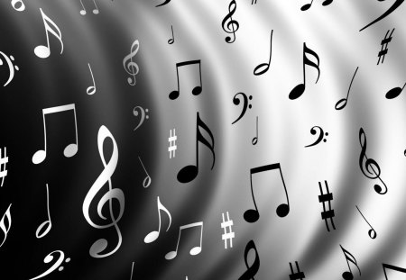 Music Notes 3d And Cg Abstract Background Wallpapers On Desktop