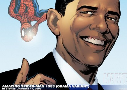 SpiderMan  - spiderman, marvel, obama, america