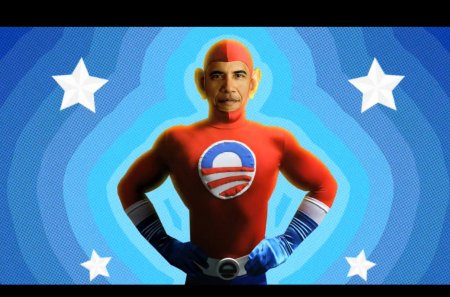 SUPER OBAMA - red, super, usa, obama, star