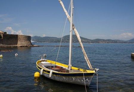 boat - water, oceans, boat, sky