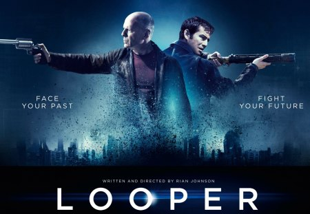Looper 2012 Movie - movie, action, 2012, thriller, looper, blue