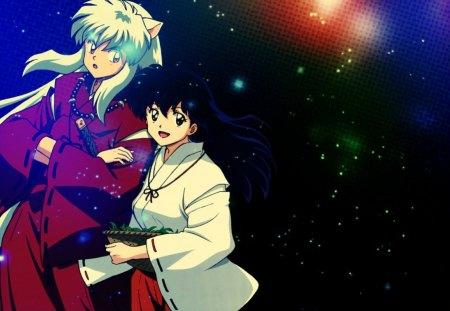 Inuyasha And Kagome Inuyasha Anime Background Wallpapers