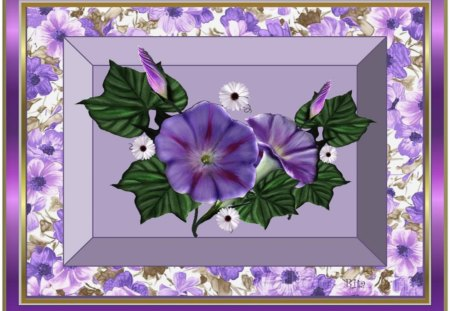 HAPPY BIRTHDAY - YATY. - flowers, birthday greetings, purple, morning glory