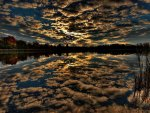 *** Dark magic sky reflected in the lake ***