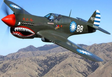 curtiss p40 warhawk - pilot, p40, warhawk, curtiss