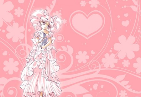 Small Lady - sailor mini moon, pretty, floral, nice, love, anime, royalty, sailor moon, beauty, anime girl, long hair, lovely, gown, sexy, abstract, cat, cute, dress, divine, neko, mini moon, beautiful, elegant, animal, magical girl, blossom, heard, hot, gorgeous, rini, chibiusa, female, twin tails, artemis, girl, flower, pink hair, princess