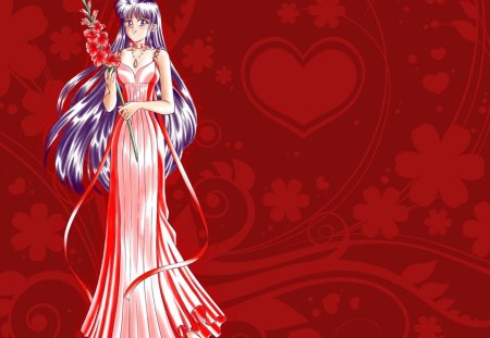 Princess Mars - pretty, floral, nice, love, anime, royalty, sailor mars, sailor moon, beauty, anime girl, long hair, lovely, ribbon, gown, purple hair, sexy, abstract, cute, red, dress, divine, beautiful, elegant, magical girl, blossom, rei, heard, hot, rei hino, gorgeous, female, girl, flower, princess