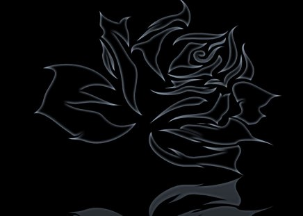 black rose - black, logo, rose, abstract