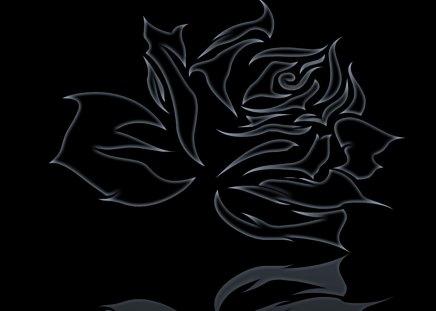 black rose - logo, abstract, black, rose