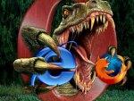 Dinosaur Eats Firefox and Internet Explorer
