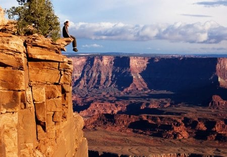 View from the Edge - edge, scenic, canyon, view