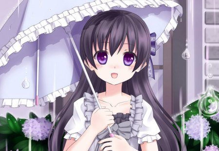 SweetBrella - pretty, umbrella, adorable, magic, women, sweet, floral, love, anime, flowers, beauty, anime girl, purple eyes, long hair, lovely, gown, amour, cute, maiden, dress, divine, adore, beautiful, sublime, woman, blossom, hot, black hair, gorgeous, female, exquisite, kawaii, girl, flower, precious, magical, lady, angelic