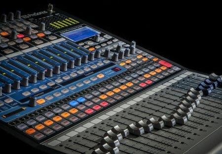 Digital Sound Mixer - Keyboards & Technology Background