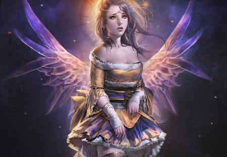 Purple angel - Fantasy & Abstract Background Wallpapers on ...