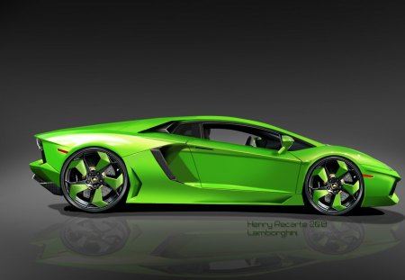 Green Lamborghini Cars Wallpapers