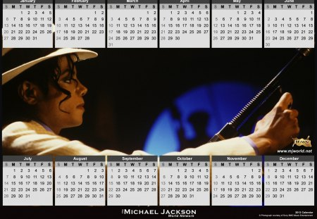 ~Happy 2013♥Calendar~ - michael jackson, music, smooth criminal, beautiful, dreams come true this year, entetainment, singer, calendar, annie are you ok, love, forever, happy  new year, dance