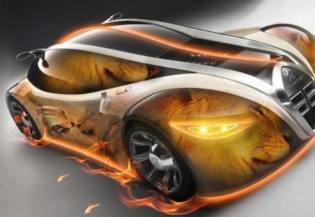 Amazing Neon Lion Peugeot Peugeot Cars Background Wallpapers On