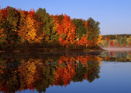 Untitled Wallpaper - awesome fall scene, michigan, thornton lake, hiawatha national forest