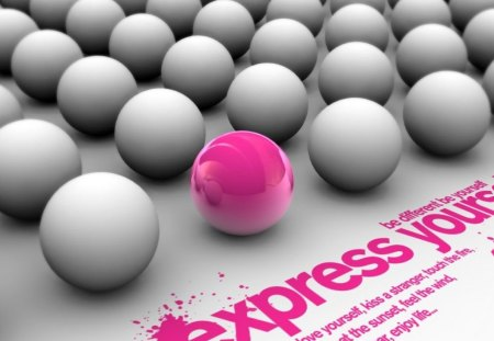 express your self - cool, wallpaper, 2009, new, pink