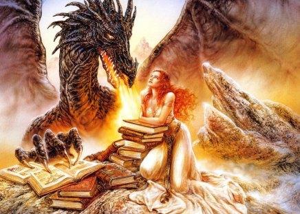 Luis Royo (Woman & Dragon)