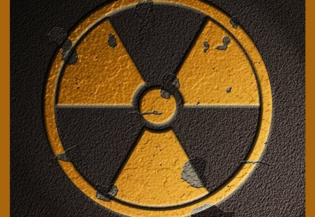 nuclear sign - dangerous, hd, fusion, fission, sign, atomic, wide, biohazard, nuclear, wallpaper, generation