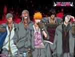 Renji, Ikkaku, Ichigo, Chad, Uryuu