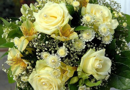 Bouquet of yellow roses - Flowers & Nature Background ...