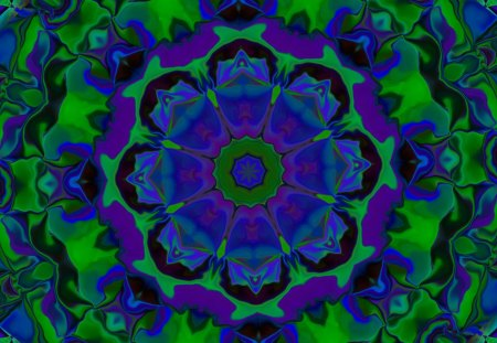 B. GIV Cool Hues 4 U! - colorful, colors, design, indigo, abstract, kaleidoscope, kaleidoscopes too1, group, cool, green, purple, cool colors, violet, blue