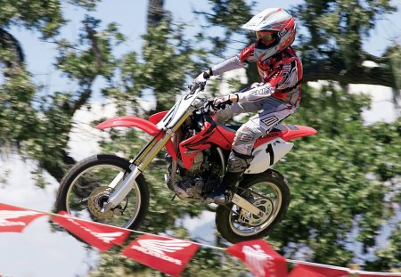 Honda flying - motorbike jump, motorbike, bike, honda, motocross, jump, motorcycle, bike jump