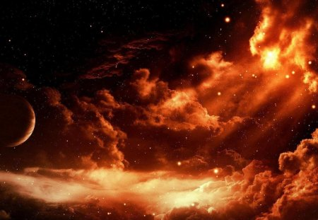 Beautiful Universe - Beautiful Universe, fiery universe, red universe, cool universe