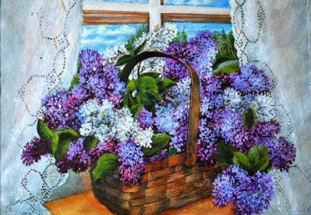 Zatselyapin Vladimir  Lilac in a cart of WINDOWS - Flowers & Nature