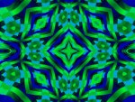 Blue & Green Crazy Quilt