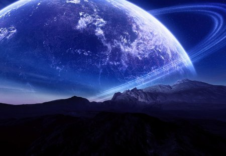 Rise Of The Planet - amazing, rise, worlds, fantasy, cool, big, purple, planet, universe, beauty, great