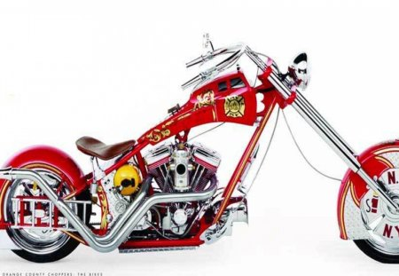Firemans Bike - occ, red, bike, firemans