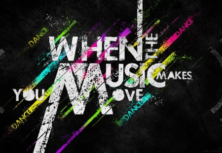 When The Music 3d And Cg Abstract Background Wallpapers