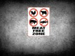 meat free zone wallpaper