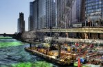 holiday green chicago river