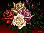 OIL PAINTED ROSES