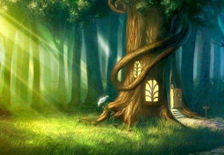 untitled - green, tree, light