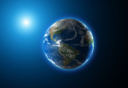 Beautiful Blue Earth - blue planet, blue earth, pretty earth, Beautiful Blue Earth