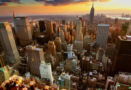Sunset On New York City Skyscrapers Architecture Background Wallpapers On Desktop Nexus Image 1310567